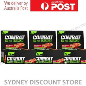 MUSCLEPHARM COMBAT CRUNCH PROTEIN BARS 12 BARS x 3 BOXES BULK SALE