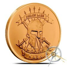 MOLON LABE (COME AND TAKE IT!) - 1 OZ AVDP .999 Fine Copper Bullion Round - Coin