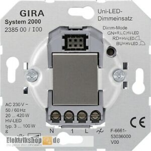 Universal-Dimmer-Einsatz Tastdimmer 238500 Gira