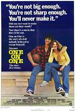 ONE ON ONE Movie POSTER 27x40 Robby Benson Annette O'Toole G.D. Spradlin Gail