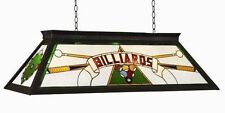 RAM Pool Table Lights Billiards Lighting KD GREEN Three 4 Bulbs Stained Glass