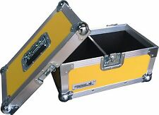 "7"" Single 200 Swan Flight Case Vinyl Record Box (Yellow Rigid PVC)"