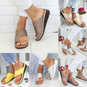 Ladies Women Orthopedic Sandals Comfy Platform Beach Shoes For Bunion Corrector