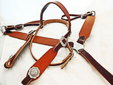 Floral Embossed Harness Leather Breast Collar Headstall Set Jeremiah Watt Horse