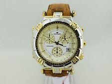 Orologio Cronografo PRYNGEPS CR755 allarme acciaio oro uomo Quarzo 627vv1650