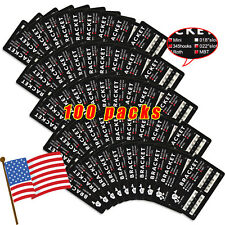 100X USA Dental Orthodontic Brackets Braces Mini MBT Metal 3-4-5 Hooks A-Model
