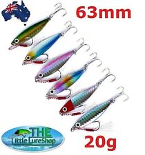 20g Micro Jig Metal Jigs Fishing Lure Salmon Tailor Jigging Bream Bass Lures