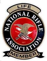 "NRA 4x3"" New Vinyl Decal LIFE MEMBER National Rifle Association 2nd Amendment"