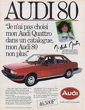 PUBLICITE ADVERTISING 084 1982 AUDI 80 QUATTRO avec Michèle Mouton