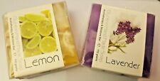 Fait Main Aromathérapie Savons~ Set 2 ~ Lavande et Citron ~ Grand Cadeau !