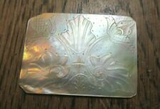 ANTIQUE CHINESE CARVED  MOTHER OF PEARL  PANEL FLORAL SHELL