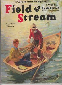 Vintage JUNE 1938 FIELD & STREAM magazine hunting fishing  Arthur Fuller cover