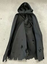 """SU-EZHC-BLK: 1/12 wired battle damaged Hooded cape for 6"""" action figure - Black"""