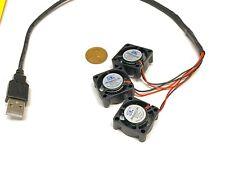 3 fans on 1 usb fan 5v computer mini small  2510 GDStime 25mm x 10mm  WD B9
