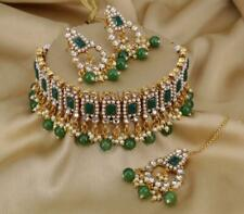 Indian Bollywood Choker CZ AD Bridal Gold Fashion Jewelry Necklace Sets Tanishqj