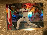 2020 Topps Chrome Silver Refractor Logan Allen Rookie RC #155 Cleveland Indians