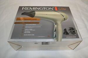 REMINGTON PRO ~ 1875 WATTS ~ HAIR DRYER ~ CHAMPAGNE/GRAY ~ AC8A630 ~ NEW