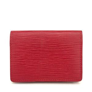 Louis Vuitton Epi Pochette Cartes Visite Red Leather Card Case /A0121