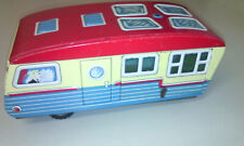 Blechspielzeug Haji Japan House Trailer Caravan Wohnwagen 50er / 60er Litho