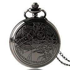 Retro Movie Doctor Who Arabic Number Men Quartz Pocket Watch Necklace Chain Gift