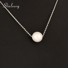 Simply Fashion Single Pearl Choker Necklace Chain For Women OL Lady 2 Color New