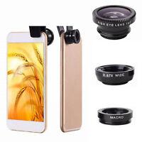 3 in 1 Makro Weitwinkel und Fischauge Clip on Kamera Linse für Handy Tablet R5R3