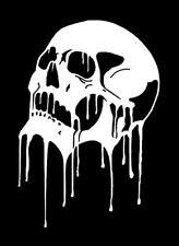 high detail airbrush stencil  melting skull five FREE UK POSTAGE