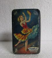 Vintage Parle Toffees Ad. Beautiful Dancing Girl Print Litho Tin Box
