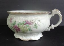 JOHNSON BROTHERS ENGLAND CHAMBER POT RAISED GRAPE DESIGN WITH GOLD TRIM