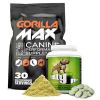 Gorilla Max Muscle Builder for Dogs - FREE Bottle of Bully Max included!