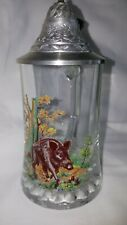 Bar Germany Glass Pewter Beer Stein Tankard Boar Pig Coffee Christmas Lacquer