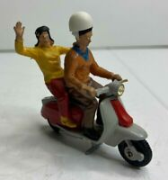 RARE Vintage Britains LTD. Lambretta Scooter Moped w/ Riders 9685 diecast
