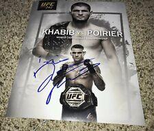 Dustin Poirier Signed Ufc 242 8x10 Photo With Proof Khabib