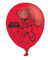 6 pk Latex Mario Balloons Super Mario Yoshi Childrens Party Decoration