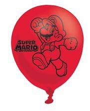 6 pk Latex Mario Balloons Super Mario Yoshi Childrens Party Decoration