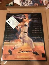 Ted Williams Signed Hit List Poster 16x20 Photo (Green Diamond Auth)