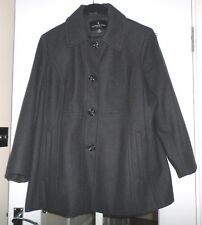 London Fog Womens Coat Jacket Wool Mix Lined  Plus Size XL Worn a few time only