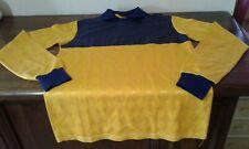 MAGLIA SHIRT VINTAGE '70 PORTIERE CALCIO GOALKEEPER FOOTBALL BLUE YELLOW SIZE L