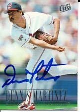 Dennis Martinez Cleveland Indians 1996 Fleer Ultra Autographed Signed Card