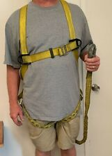 Used Fpd6981dgp Durabilt N Safety Harness Fall Protection Full Body Amp Lanyard