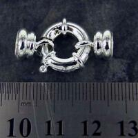 Clasps Sets, Silver Plated Bolt Spring Ring Jewellery Findings Large K3