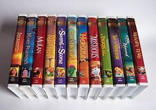 Disney ALL GOLD COLLECTION Mulan Robin Hood Pete's Dragon Aristocats VHS LOT Euc