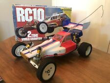 Vintage RC 10 Team Associated Gold Pan B stamp RC Car with Box