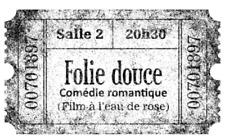TAMPON BOIS 'ARTEMIO' FOLIE DOUCE COMEDIE ROMANTIQUE CINEMA PROJECTION TICKET