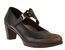Naot Leather Mary Jane Pumps - Amato Volcanic Brown EU39 US 8 NEW