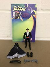 KENNER THE SHADOW TRANSFORMING LAMONT CRANSTON FIGURE 1994 & BACKING CARD