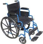"Blue Streak Wheelchair with Flip Back Desk Arms, Elevating Leg Rests, 18"""