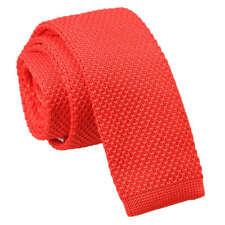 Teal Mens Skinny tie hanky Set knit knitted Plain libre de poche par DQT