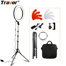 55W 18 INCH Studio LED Photo Video Ring Light + Camera iPhone Holder + Stand Set