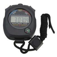 Digital Handheld Sport Stoppuhr Stoppuhr Timer Alarm Y6X8 Zähler Großhandel A1F2